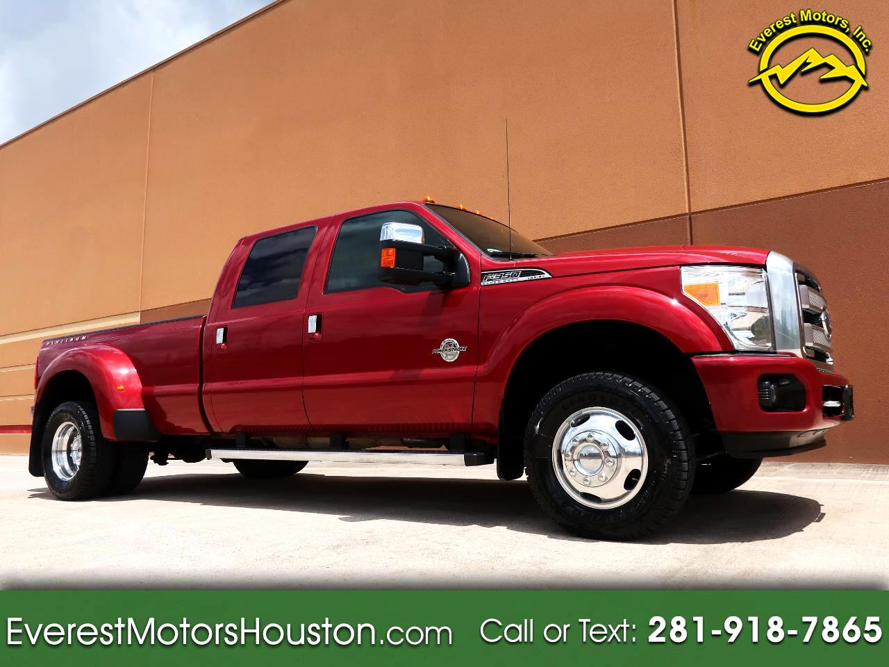 2015 Ford F-350 SD PLATINUM CREW CAB LONG BED 4WD LOADED LOW MILES