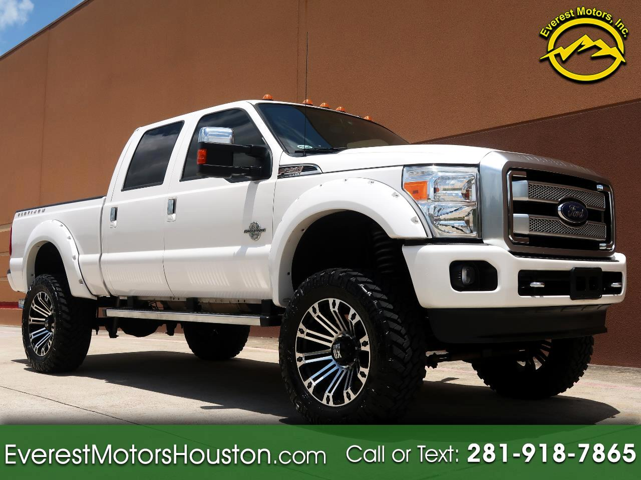 "2015 Ford F-250 SD PLATINUM Crew Cab SWB 4X4 LOADED LOW MILES 6"" Lift"