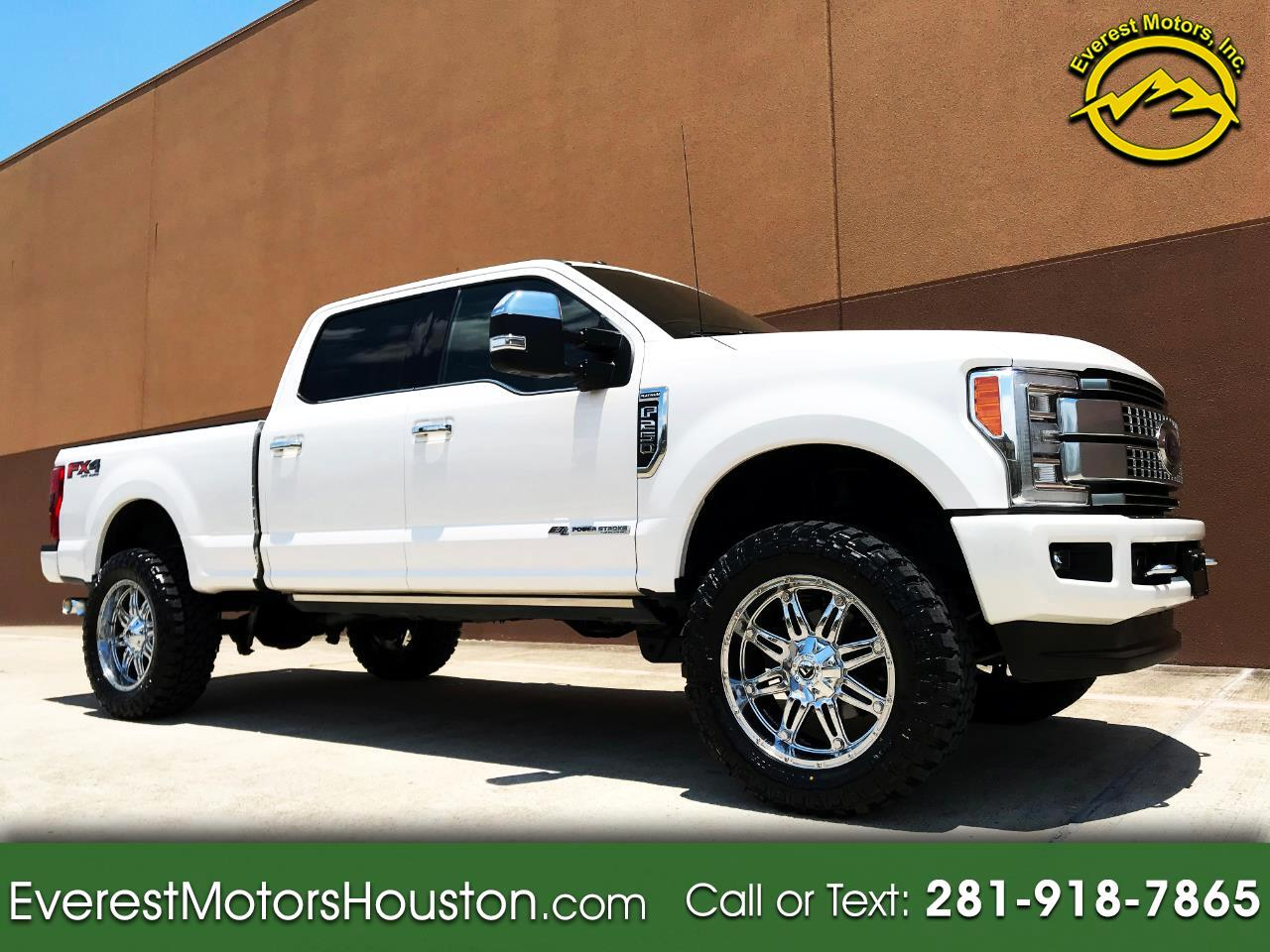 2017 Ford F-250 SD PLATINUM CREW CAB SWB 4WD NAV CAM ROOF LOADED
