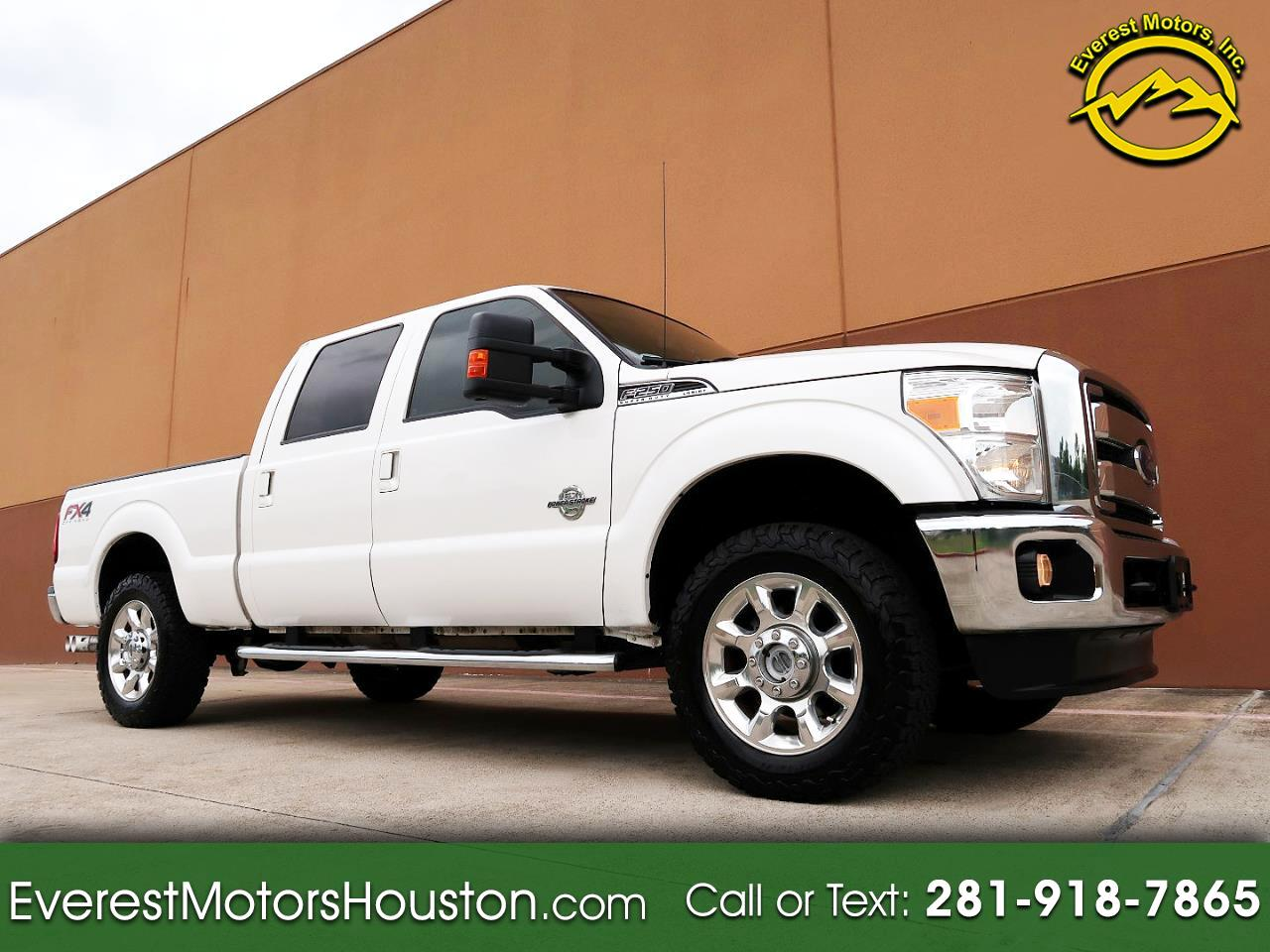 2015 Ford F-250 SD LARIAT CREW CAB SHORT BED 4WD NAV CAM DIESEL