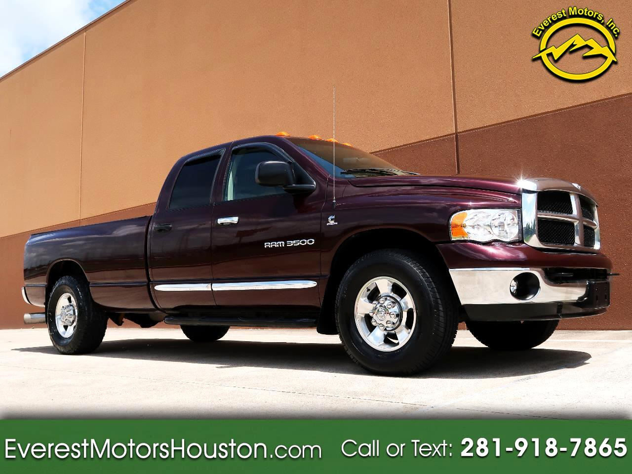 2005 Dodge Ram 3500 SLT QUAD CAB LONG BED 2WD 5.9L DIESEL