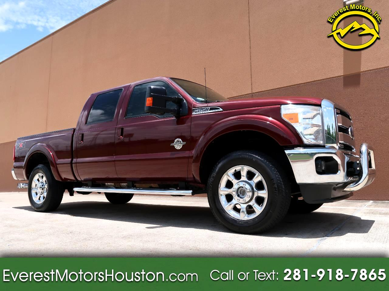 2011 Ford F-250 SD LARIAT CREW CAB SHORT BED 4WD DIESEL NAV CAM ROOF