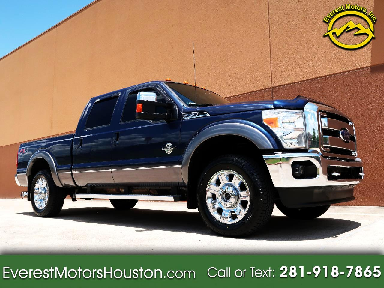 2013 Ford F-250 SD LARIAT CREW CAB SWB 4WD DIESEL NAV CAM ROOF