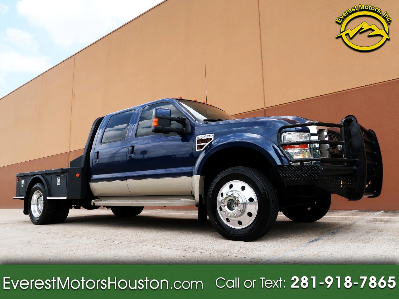 2008 Ford F-450 SD KING RANCH CREW CAB LWB 4WD DIESEL FLAT BED
