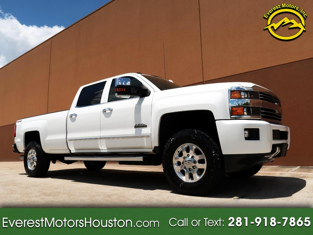 2015 Chevrolet Silverado 3500HD HIGH COUNTRY CREW CAB LONG BED 4WD DIESEL LOADED