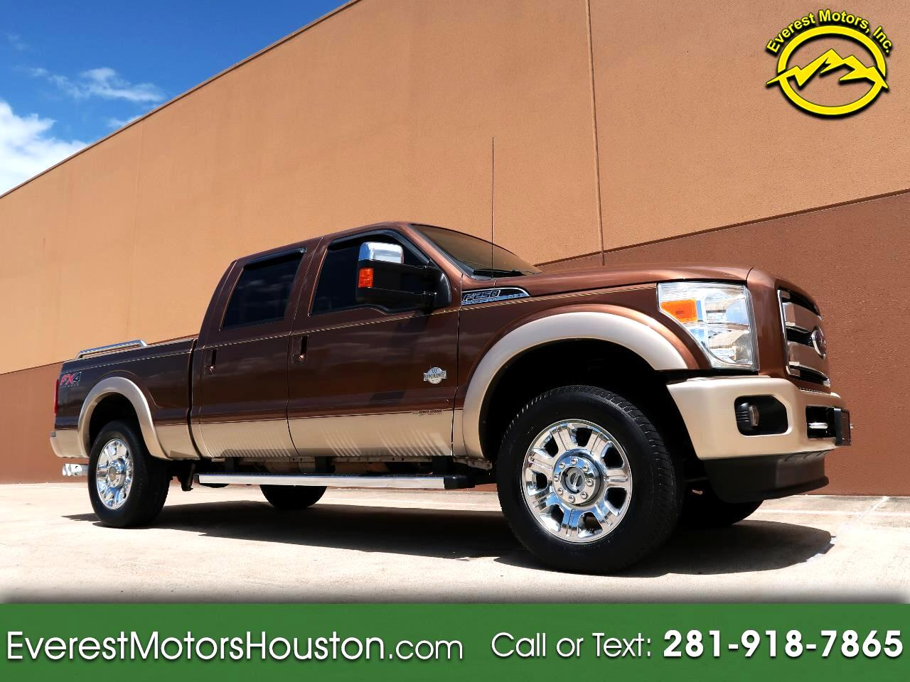 2012 Ford F-250 SD KING RANCH CREW CAB SWB 4WD DIESEL LOADED