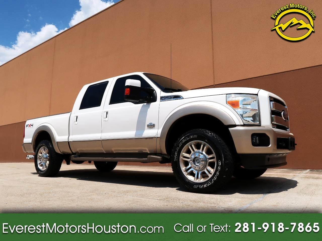 2011 Ford F-250 SD KING RANCH CREW CAB SHORT BED 4WD DIESEL