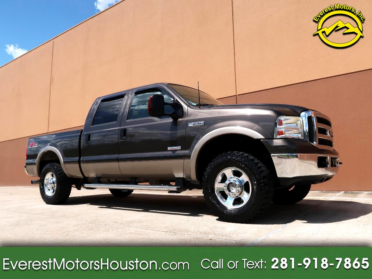 2005 Ford F-250 SD LARIAT CREW CAB SHORT BED 4WD DIESEL