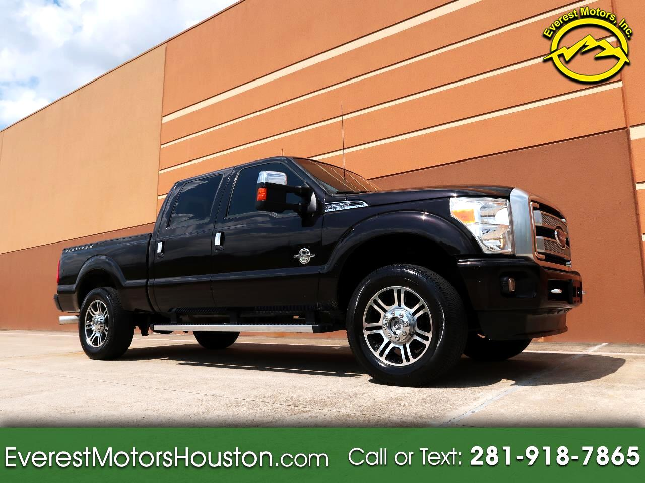 2013 Ford F-250 SD PLATINUM CREW CAB SHORT BED 4WD DIESEL