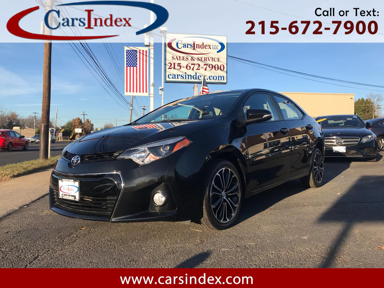 2016 Toyota Corolla 4dr Sdn CVT S w/Special Edition Pkg (Natl)