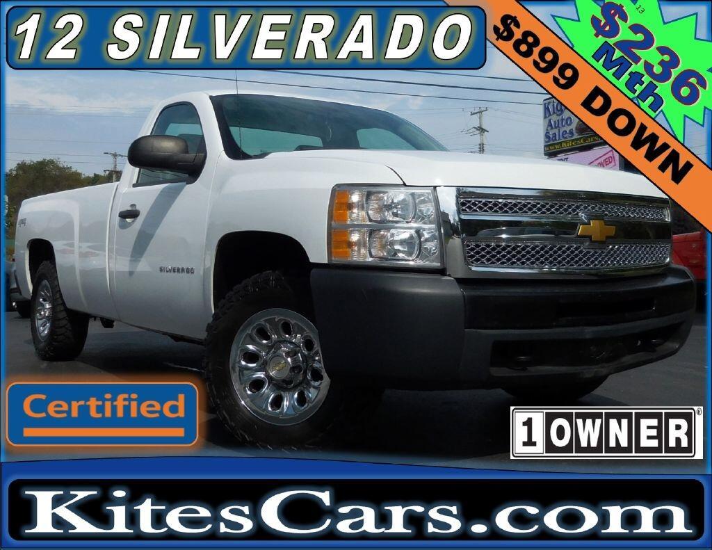 """2012 Chevrolet Silverado 1500 4WD Reg Cab 133.0"""" Work Truck"""