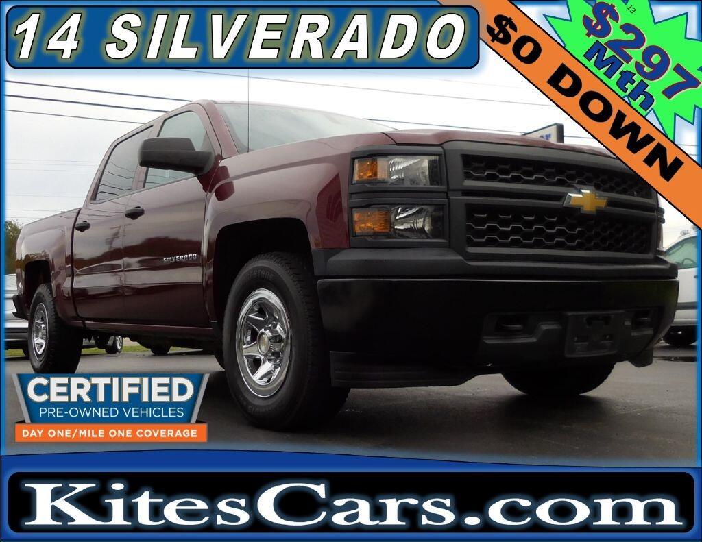 """2014 Chevrolet Silverado 1500 4WD Crew Cab 143.5"""" Work Truck w/1WT"""