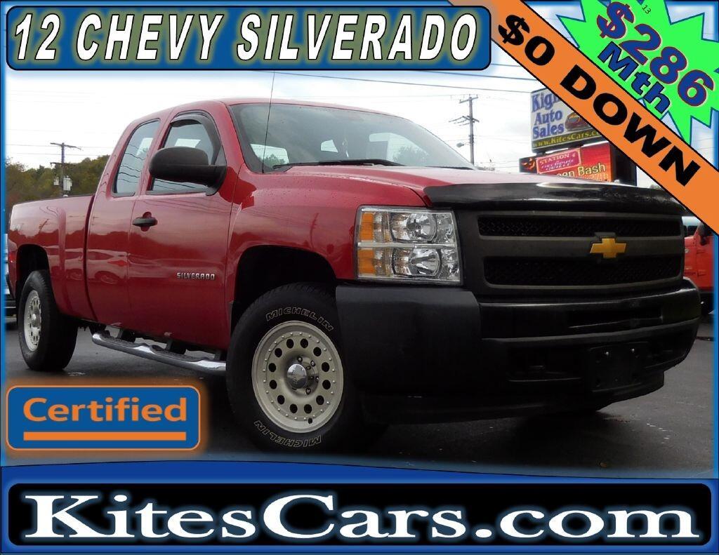 """2012 Chevrolet Silverado 1500 4WD Ext Cab 143.5"""" Work Truck"""