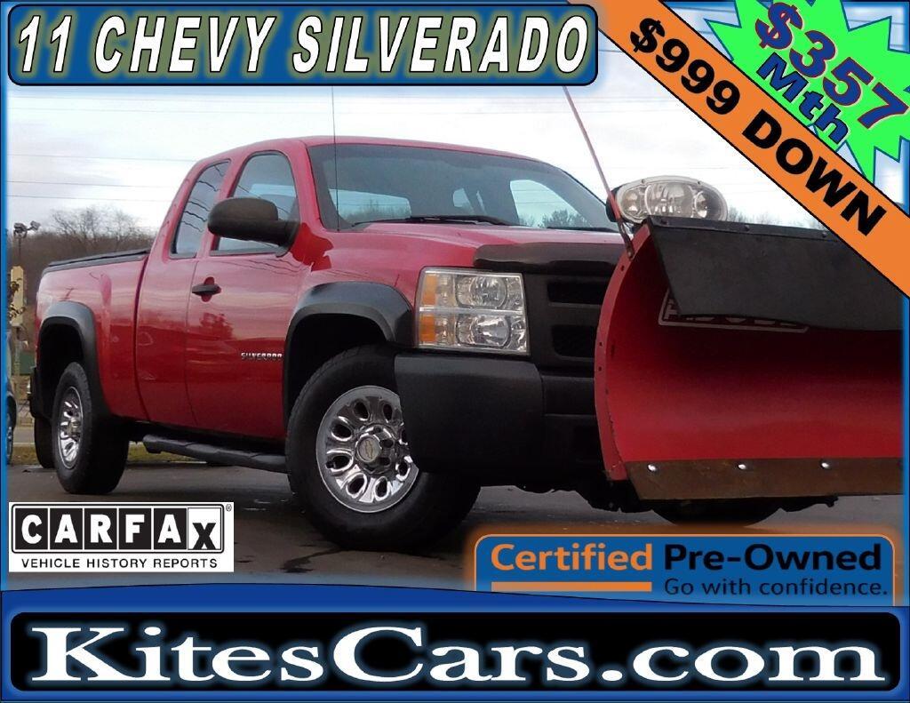 """2011 Chevrolet Silverado 1500 4WD Ext Cab 143.5"""" Work Truck"""