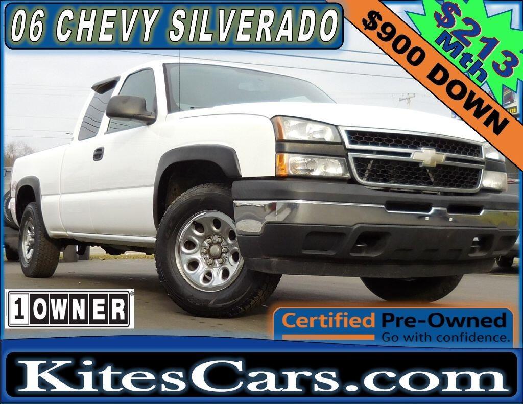 """2006 Chevrolet Silverado 1500 Ext Cab 143.5"""" WB 4WD LS"""