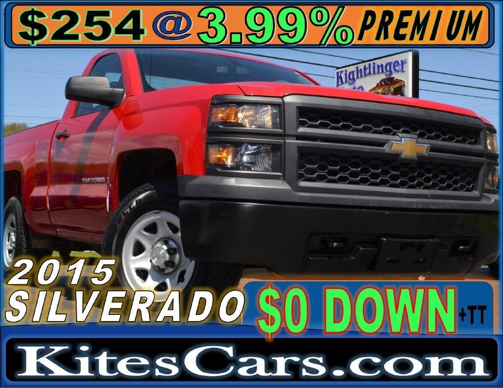 """2015 Chevrolet Silverado 1500 4WD Reg Cab 119.0"""" Work Truck"""
