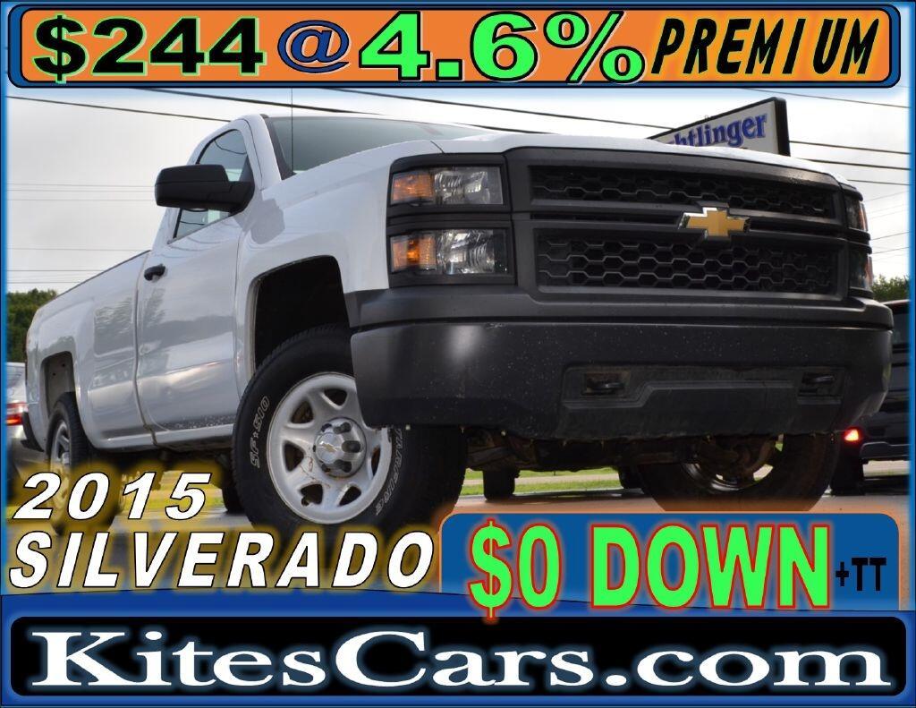 """2015 Chevrolet Silverado 1500 4WD Reg Cab 133.0"""" Work Truck"""