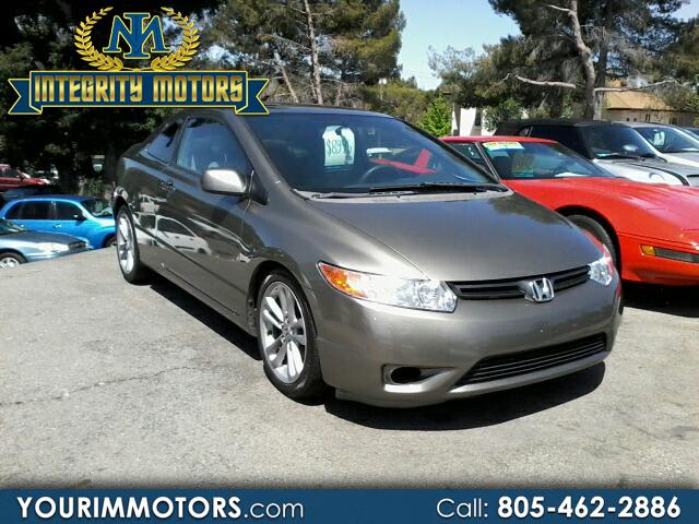 2007 Honda Civic EX Coupe with Front Side Airbags