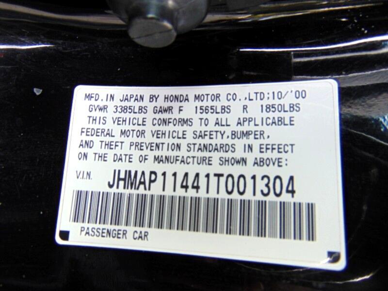 2001 Honda S2000 6-Speed MT