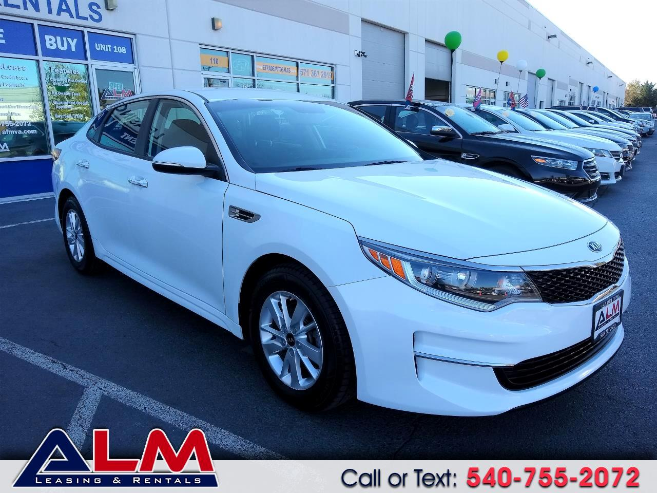 buy here pay here 2016 kia optima 4dr sdn lx for sale in chantilly va 20152 alm leasing rentals. Black Bedroom Furniture Sets. Home Design Ideas
