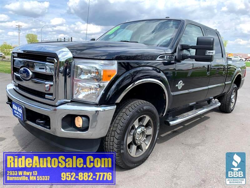 2012 Ford F250 Lariat, Crew cab, 4x4, LEATHER, 6.7 tuned diesel !