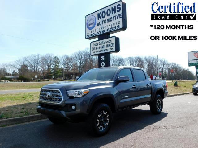 Toyota Tacoma TRD Off Road Double Cab 6' Bed V6 4x4 AT (Natl) 2016