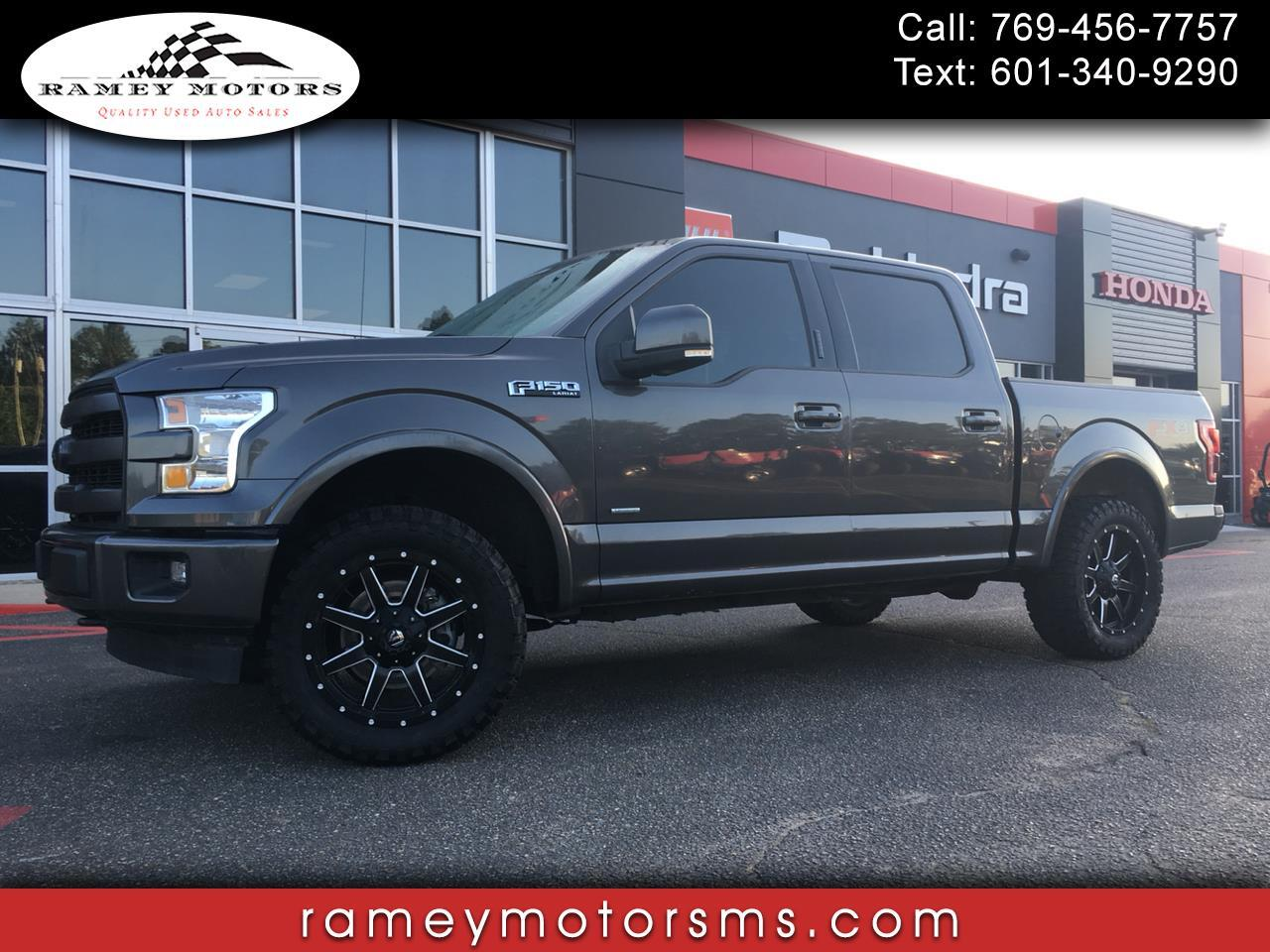 2016 Ford F-150 4WD CREWCAB LARIAT CUSTOM LEVELED