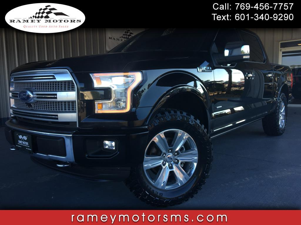 2016 Ford F-150 4WD CREWCAB PLATINUM CUSTOM LEVELED