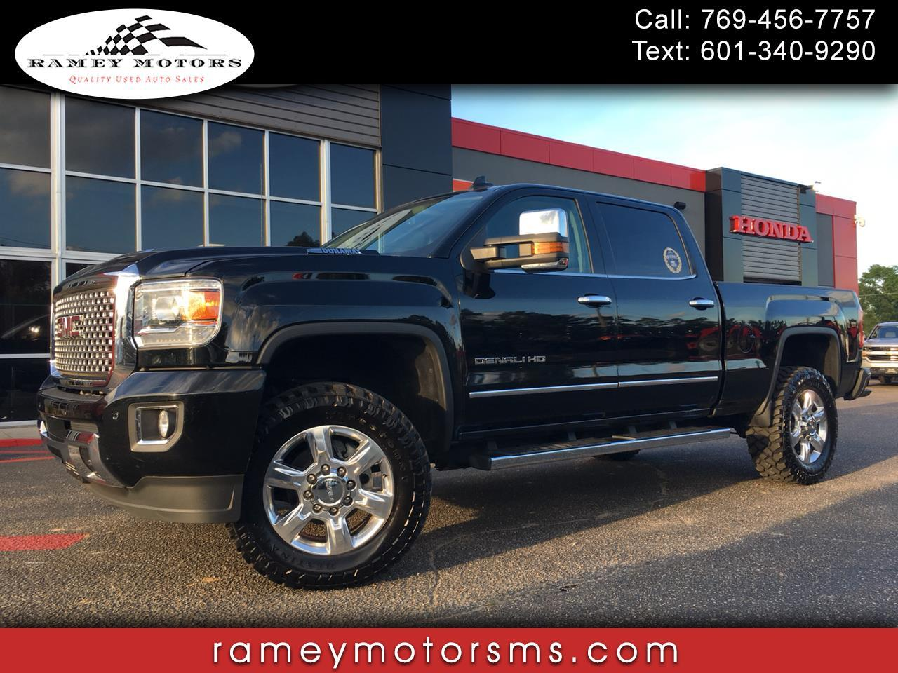 2017 GMC Sierra 2500HD 4WD CREWCAB SHORTBED DENALI CUSTOM LEVELED