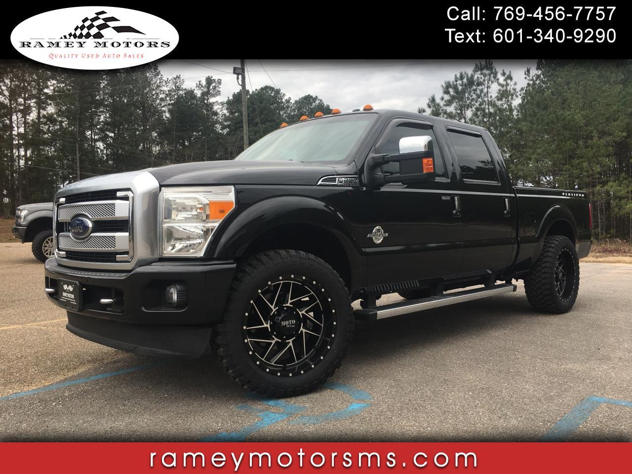 2013 Ford Super Duty F-250 SRW 4WD CREWCAB PLATINUM SHORTBED CUSTOM LEVELED