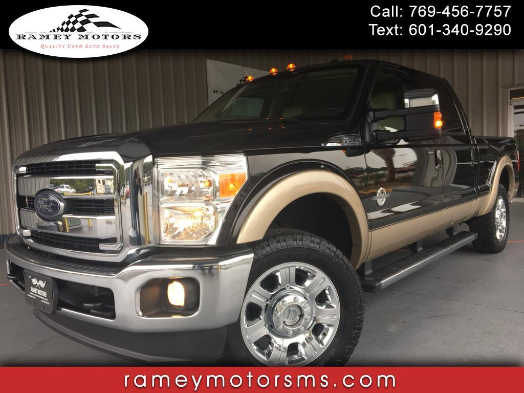 2012 Ford Super Duty F-250 SRW 4WD CREWCAB LARIAT SHORTBED