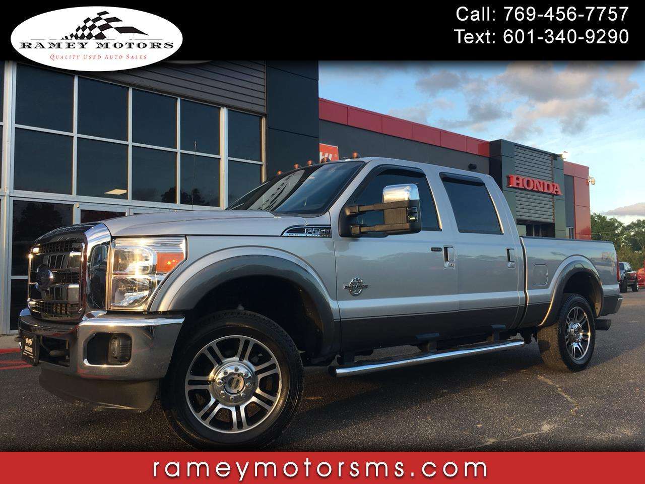 2012 Ford Super Duty F-250 SRW 4WD CREWCAB LARIAT DPF DELETED
