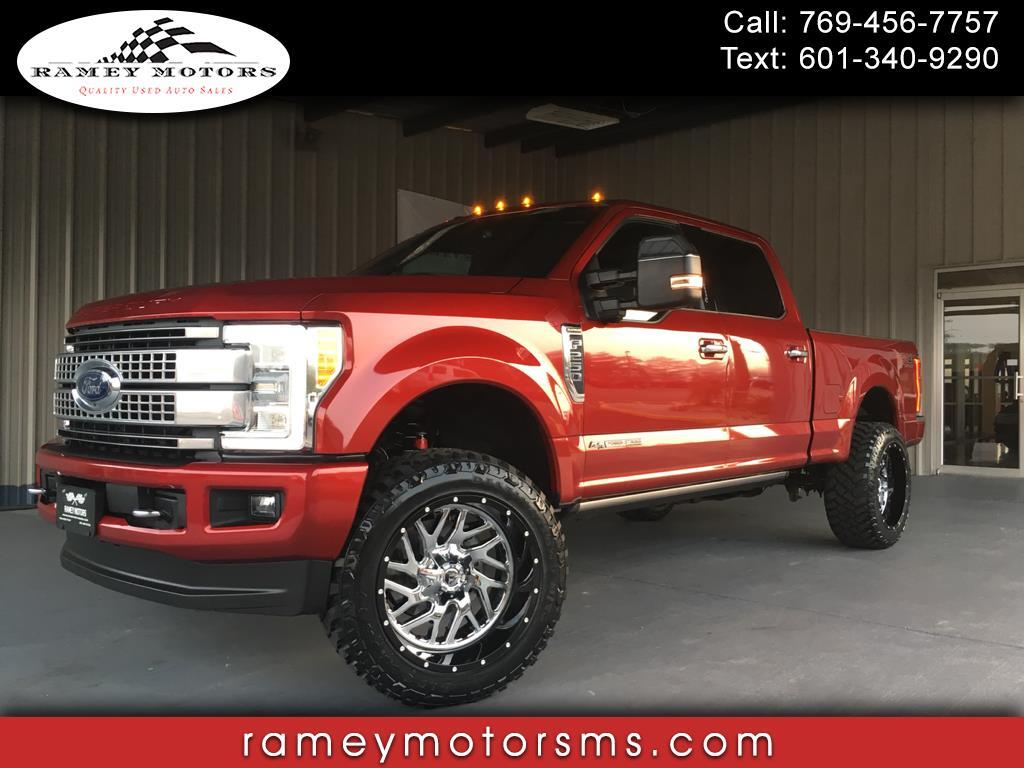 2017 Ford Super Duty F-250 SRW 4WD CREWCAB PLATINUM SHORTBED CUSTOM LEVELED
