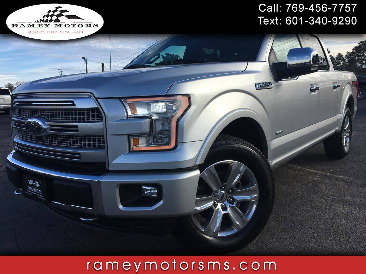 2016 Ford F-150 4WD PLATINUM
