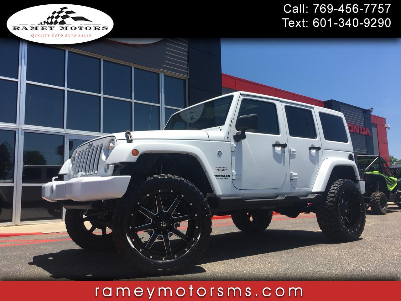 2016 Jeep Wrangler 4WD UNLIMTED SAHARA CUSTOM LIFTED