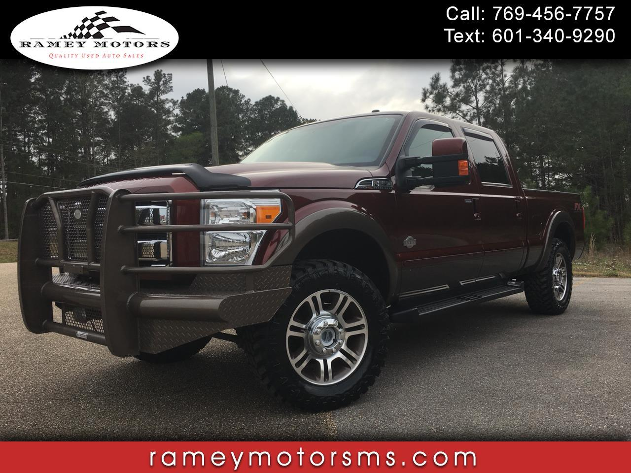 2016 Ford F250 4WD CREWCAB KING RANCH CUSTOM LEVELED