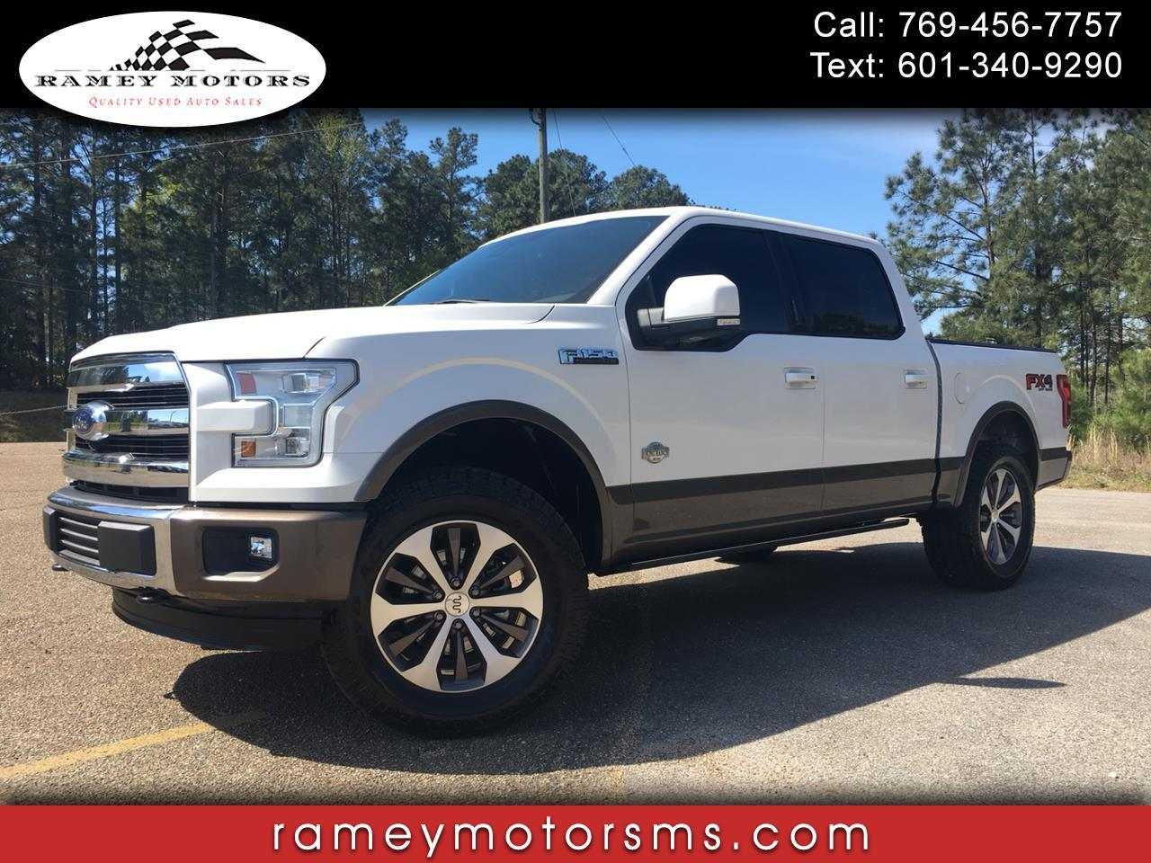 2015 Ford F-150 4WD CREWCAB CUSTOM LEVELED KING RANCH