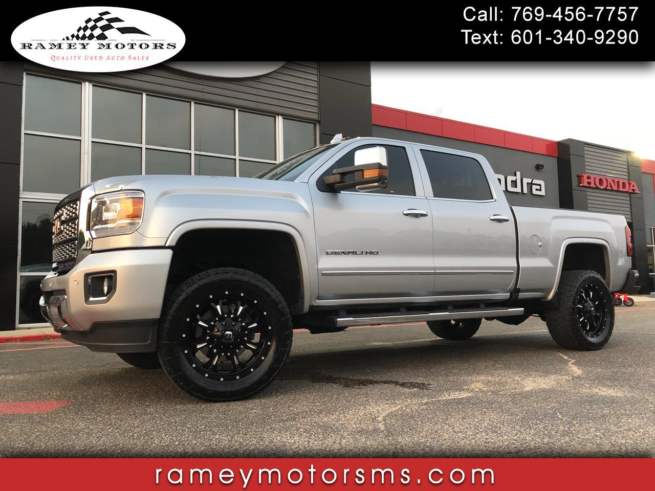 2018 GMC Sierra 2500HD 4WD CREWCAB DENALI CUSTOM LEVELED