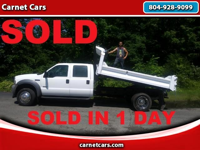 2005 Ford F-550 DUMP TRUCK CREW CAB F550 LOW MILES SEATS 6 NON CDL