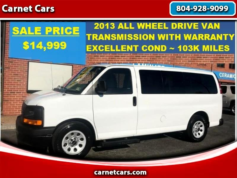 2013 GMC Savana G1500 All Wheel Drive AWD Passenger Van Exc Cond