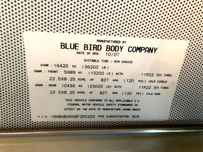 2008 Blue Bird All American/All Canadian Blue Bird All Amercian 45 Passenger Bus Luggage Ra
