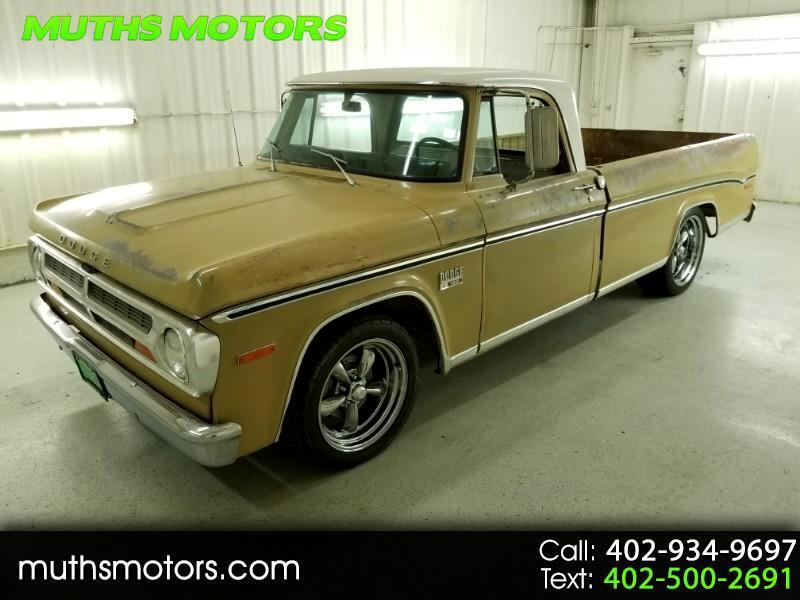 1970 Dodge D100 Reg. Cab 8-ft. Bed 2WD