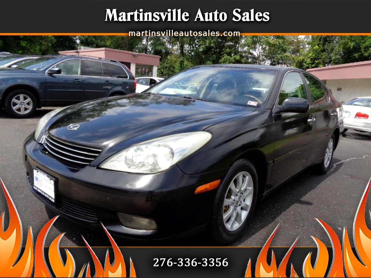 used 2002 lexus es 300 sedan for sale in martinsville va 24112 martinsville auto sales martinsville auto sales