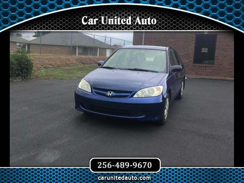 2004 Honda Civic VP Sedan AT with Front Side Airbags