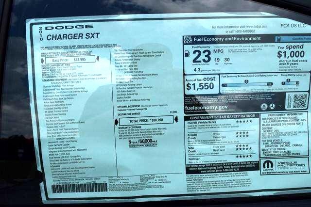Dodge CHARGER SX  2018