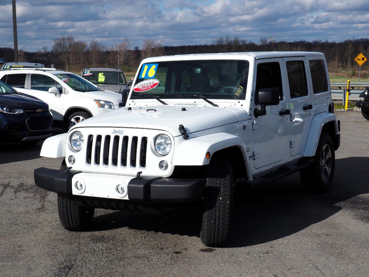 2016 Jeep WRANGLER U 4WD 4dr Sahara