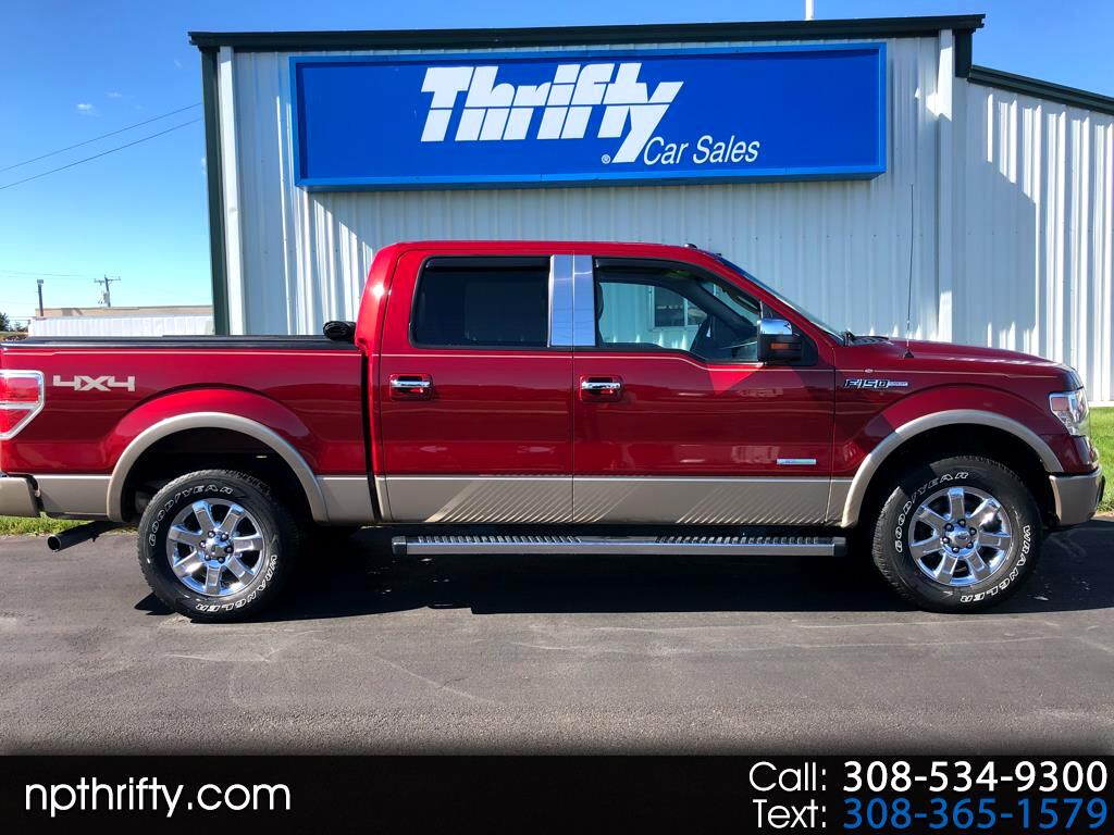 """2013 Ford F-150 4WD SuperCab 133"""" Lariat"""