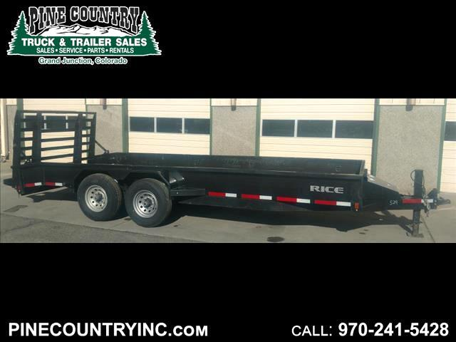 2016 Rice FMAX20 20' 14K Solid Side Trailer