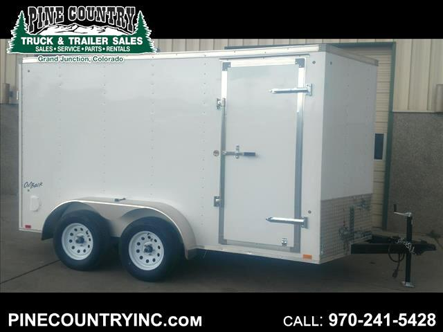 2019 Pace OB6X12TE2 Tandem Cargo Door Enclosed