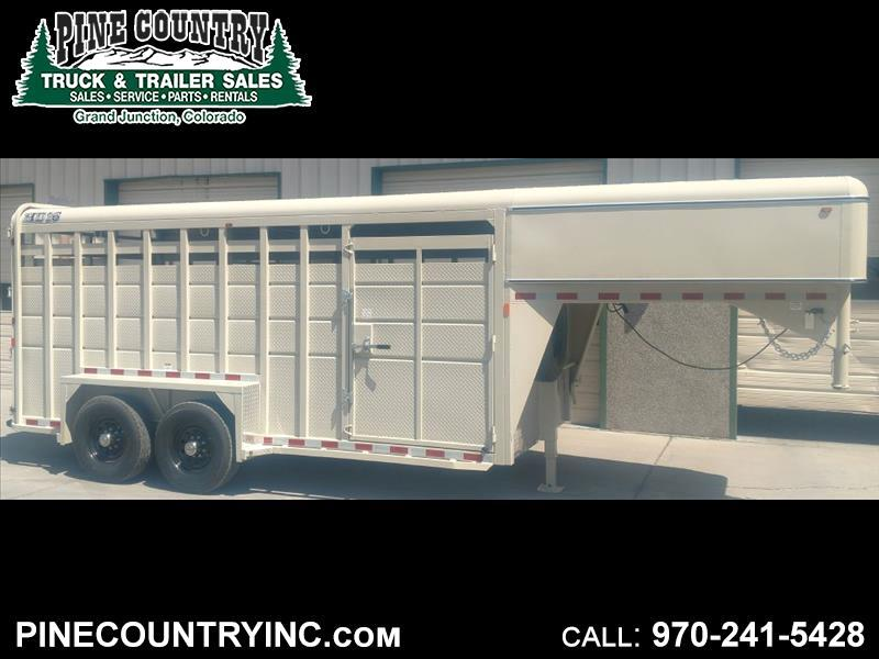 2018 CBQT MAVGNST16-14K Gooseneck Stock Trailer 16 Ft